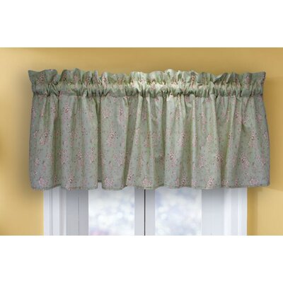 American Traditions Country Heirloom Cotton Rod Pocket Tailored Curtain Valance