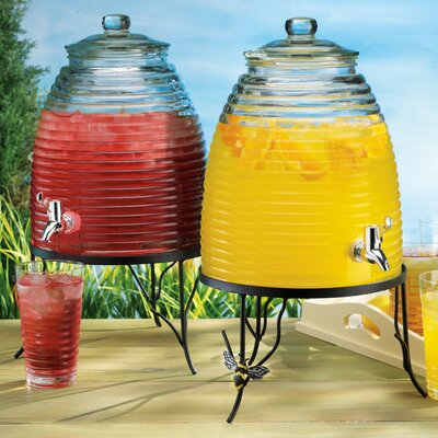 Del Sol Beehive Drink Dispenser on Bee Decorated Stand