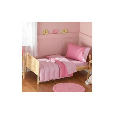 Toddler Bedding 4 Piece Toddlar Bed Set Light Pink / Dark Pink