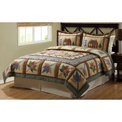 Timber Trails Cabin Lodge 2 Piece Twin Quilt Set