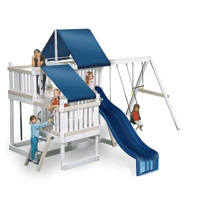 Kidwise Congo Monkey Playsystem #2 with Swing Beam in White / Sand