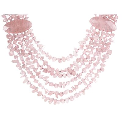 Rose Quartz Chips Necklace