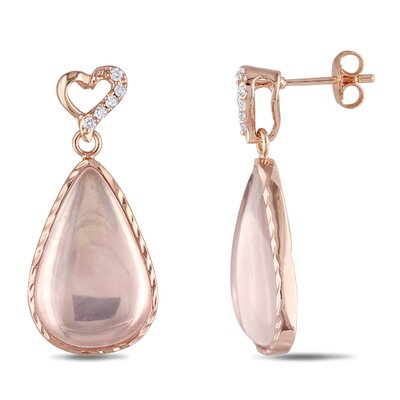 Mada Rose Quartz Earrings