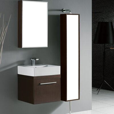 "Madeli Arezzo 20"" Wall Mounted Bathroom Vanity Set in Walnut"