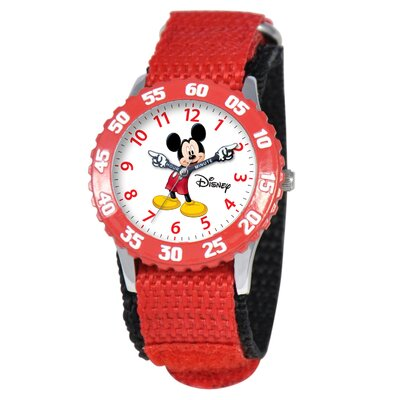 Disney Kid's Mickey Time Teacher Watch in Red