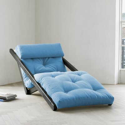 Fresh Futon Fresh Futon Figo with Wenge Frame in Horizon Blue