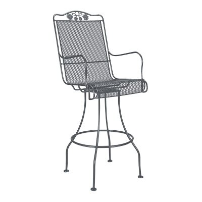 Woodard Briarwood Swivel Bar Stool