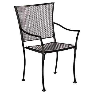 Woodard Amelie Stackable Bistro Dining Arm Chair