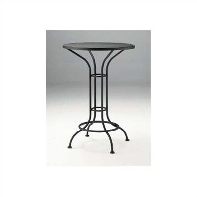 Bar Height Outdoor Round Mesh Top Bistro Table