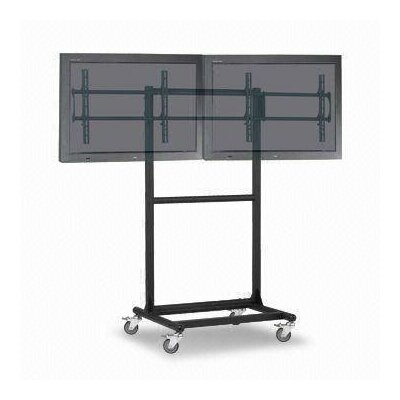Cotytech Adjustable Ergonomic Mobile Dual TV Cart for 32&quot; - 46&quot;