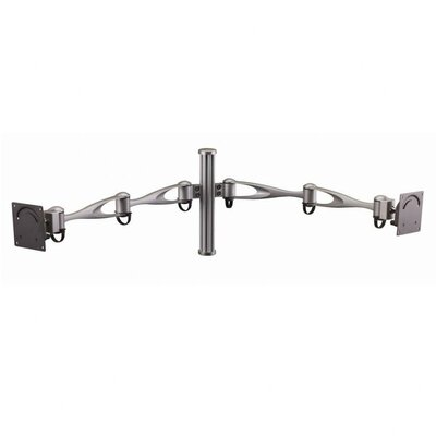 Cotytech Wall Mount for Two Monitors Vertical Double Arm