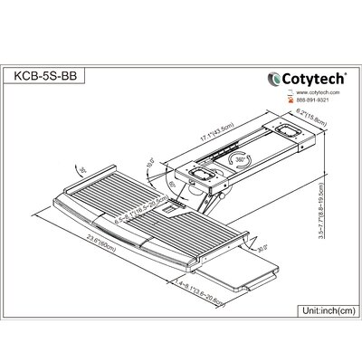 Cotytech Fully Adjustable Keyboard Mouse Tray Ball Bearing