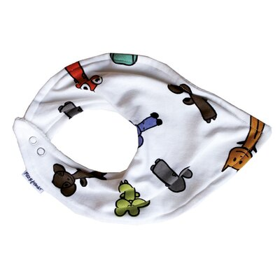 Meo and Friends Multi-print Bandana Bib