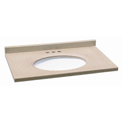 "Design House 49"" x 22"" Solid Surface Vanity Top"