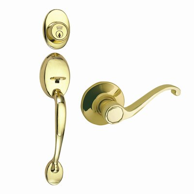 Design House Coventry Handleset with a Scroll Handle and Entry Function