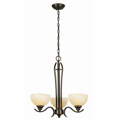 Design House Trevie 3 Light Chandelier