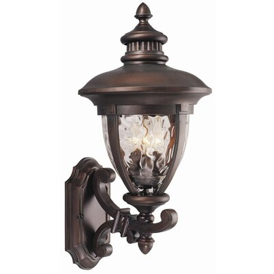 Design House Tolland 3 Light Outdoor Uplight  Wall Lantern