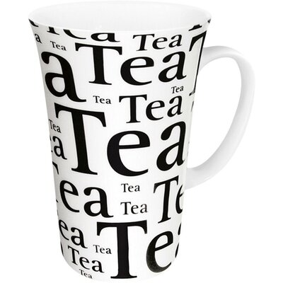 Konitz Tea Writing Mega Mug in White (Set of 4)