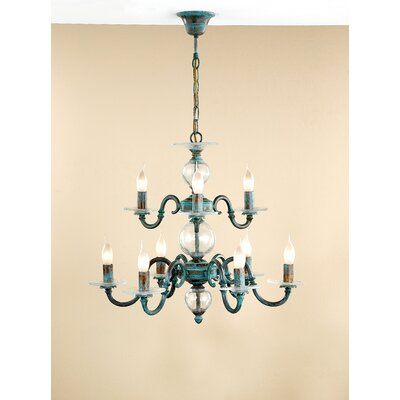 Lustrarte Lighting Classic Etrusca Nine Light Chandelier