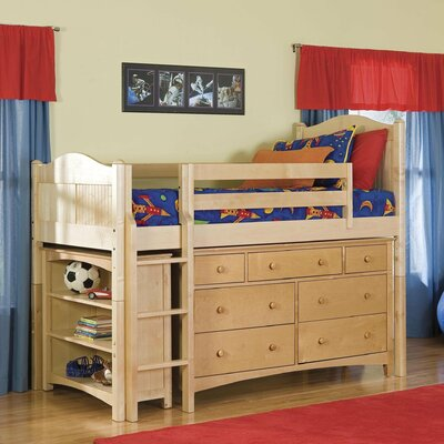 Dorel Home Products Junior Twin Loft Bed with Built-In Ladder and ...