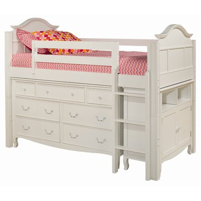 Emma twin loft bed with 7 drawer dresser and media storage cabinet wayfair - Loft bed with drawers underneath ...