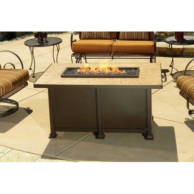OW Lee Casual Fireside Corsica Fire Pit with Mocha Tile