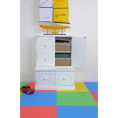KidzPad Modular Storage Base with Drawer Cubbies