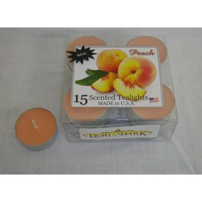 Peach Tealight Candles (Set of 15)