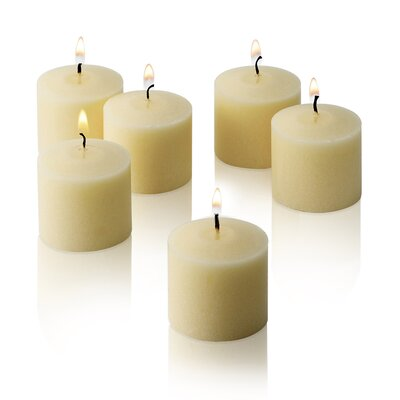Light In the Dark New Elegant Unscented Votive Candles (Set of 72)