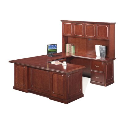 Absolute Office Heritage U-Shaped Executive Desk with Hutch