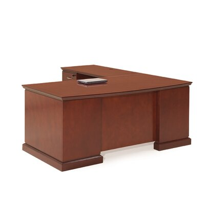 Absolute Office Devon L-Shaped Executive Desk with Return