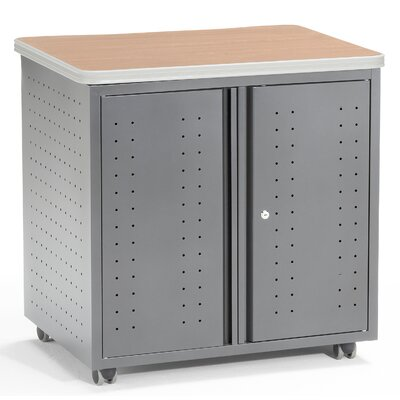 OFM Executive Series Locking Mobile Utility Table