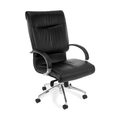 OFM Sharp Executive Series Leather Office Chair with Arms