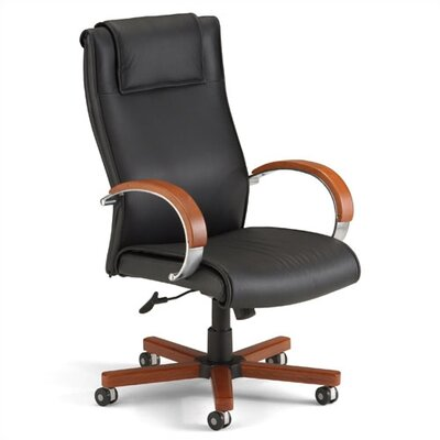 OFM Apex Hight Back Leather Executive Chair with Arms