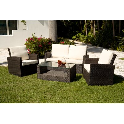 Source Outdoor Cabo 4 Deep Piece Seating Group with Cushions