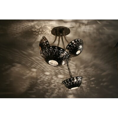 Lightexture Steamlight Semi Flush Mount