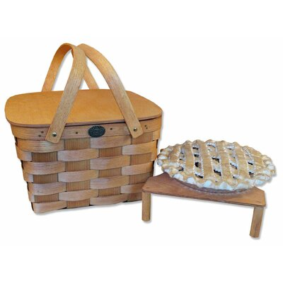 Peterboro Basket Company 2 Pie Basket with Solid Lid