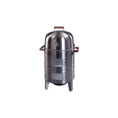 Meco Stainless Steel Charcoal Water Smoker with Grill