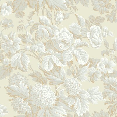York Wallcoverings French Dressing Antique Floral Wallpaper