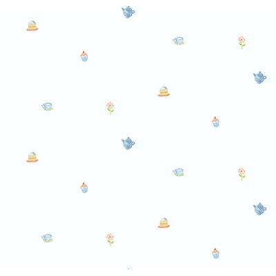 York Wallcoverings York Kids IV Tea Party Toss Wallpaper