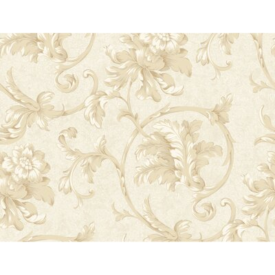 York Wallcoverings Heritage Home Feathery Flowers Wallpaper
