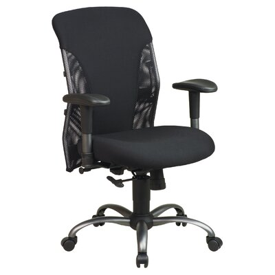 Office Star Products Mesh Mid-Back Office Chair with Arms