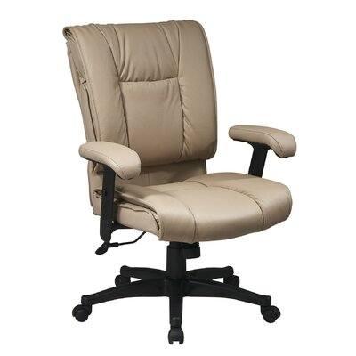 Office Star Products Deluxe Mid-Back Leather Executive Chair