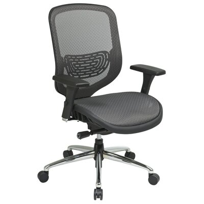 Office Star Products Mid-Back Mesh Charcoal Breathable Office Chair