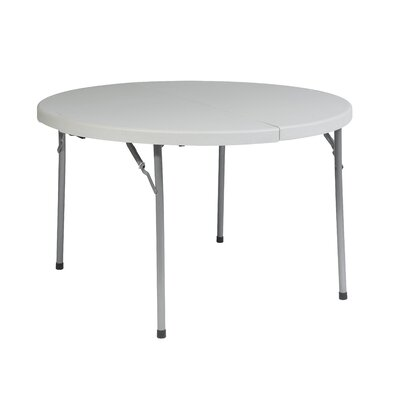 Office Star Products 48&quot; Round Fold in Half Resin Multi Purpose Table