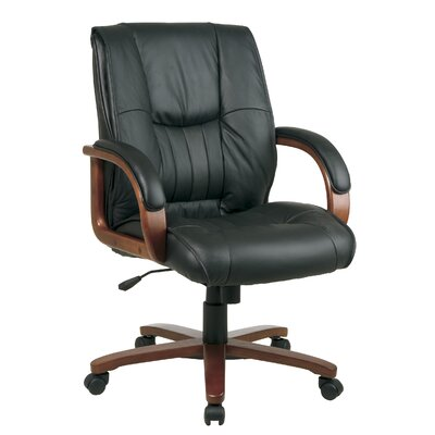 Office Star Products Leather Office Chair with Arms