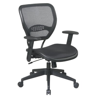 Office Star Products SPACE Mid-Back Task Chair with Adjustable Arms