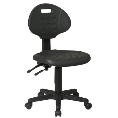 Office Star Products Low Black Ergonomic Office Chair