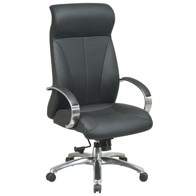 Office Star Products ProLine II Deluxe High-Back Leather Executive Chair