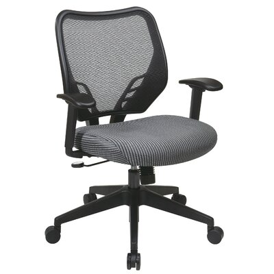 Office Star Products Space Seating VeraFlex Seat and Dark AirGrid Managerial Chair